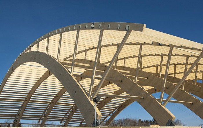 Laminated Wood Structures ~ Outaouais forest history wood an eco friendly product