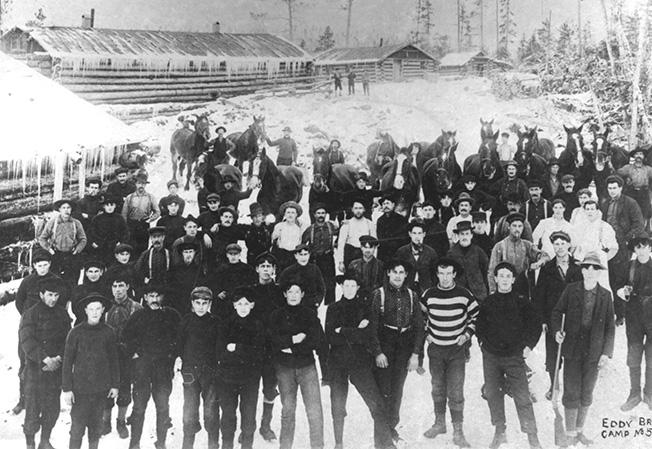 Histoire foresti re de l 39 outaouais les chantiers forestiers for Portent en eux